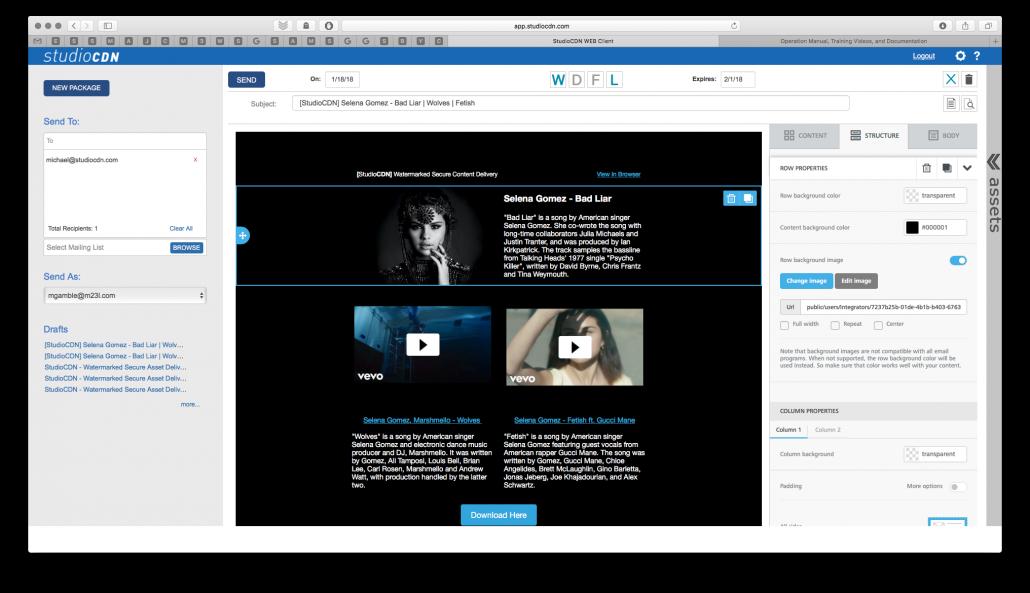 StudioCDN Advanced Editor Update - YouTube & Vimeo Videos